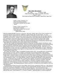 Dan Allen Brookhart - West-Point.ORG, The West Point Connection
