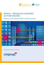 Workout – Management und Handel von ... - Frankfurt School Verlag
