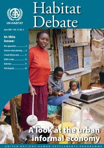 UN Habitat Debate June 2007. - Inclusive Cities