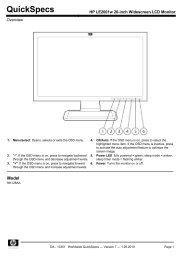 HP LE2001w 20-inch Widescreen LCD Monitor