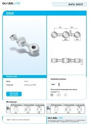 DATA SHEET SPIDER - Glassline GmbH