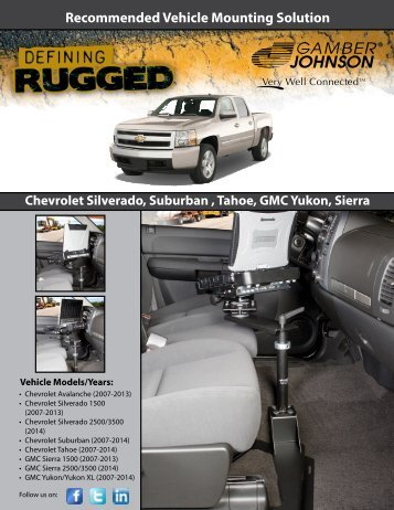 Recommended Vehicle Solution - Gamber Johnson