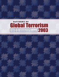 Patterns of Global Terrorism 2003 - Iran Watch