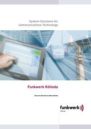 Funkwerk Kölleda System Solutions for Communications ...