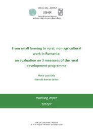 From small farming to rural, non-agricultural work in Romania ... - Inra