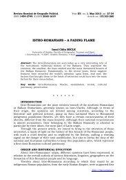 istro-romanians – a fading flame - Revista Română de Geografie ...