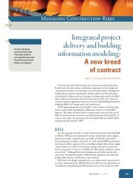 Integrated project delivery and building information modeling: - ABCIC