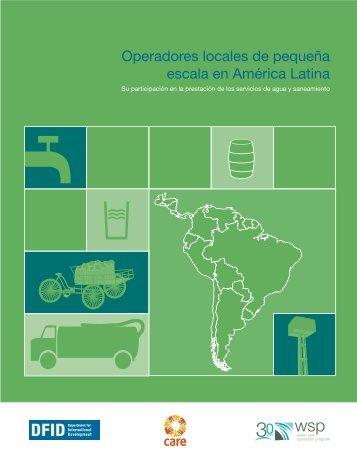 Operadores locales de pequeña escala en América Latina - WSP