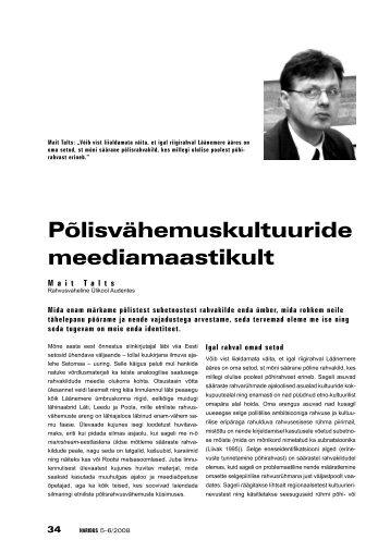 Põlisvähemuskultuuride meediamaastikult (Mait Talts) - Haridus