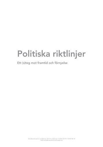Du kan läsa hela dokumentet här - Socialdemokraterna