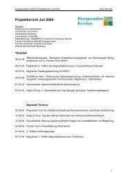 Projektbericht Juli 2004 - Flussparadies Franken