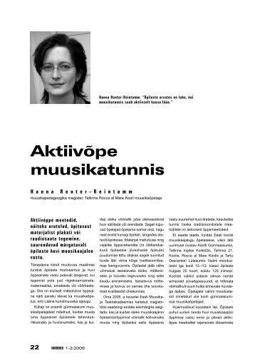 Hanna Renter-Reintamm - Haridus