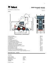 S630 Kompakt rakodó - DM-Ker Kft