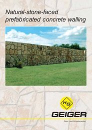 Natural-stone-faced prefabricated concrete walling - H. Geiger ...