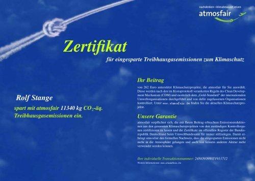 Zertifikat - Spitzbergen