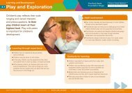 Play and exploration - Early Years Matters