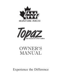 topaz travel trailer and fifth wheel owners manual