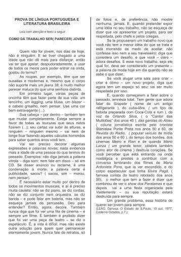 Vestibular Milton Campos Provas 1999/2