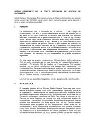 Motion to the Provincial Court Of Justice Of Sucumbíos ... - Chevron