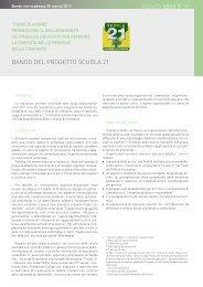 bandi 2011 31 bando del progetto scuola 21 - Fondazione Cariplo