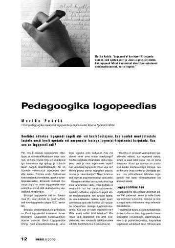 Pedagoogika logopeedias - Haridus