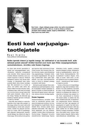 Eesti keel varjupaigataotlejatele - Haridus
