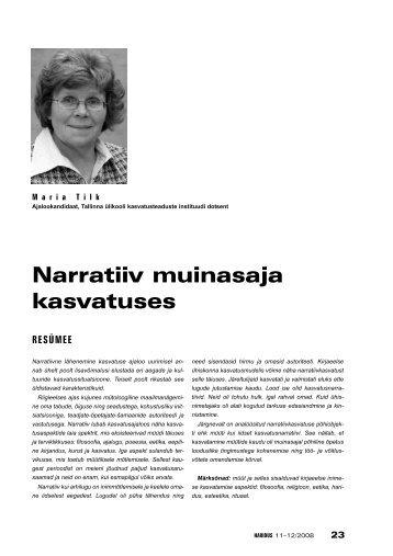 Narratiiv muinasaja kasvatuses (Maria Tilk) - Haridus