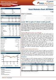 ICICI Securities Limited Kotak Mahindra Bank (KOTMAH)