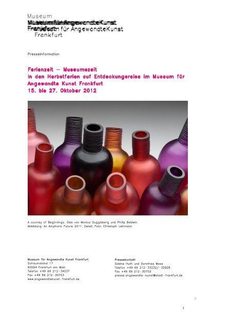 PM Herbstferien Workshop (pdf, 358 KB) - Frankfurt am Main