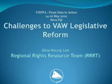 Challenges to VAW Legislative Reform