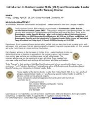 (IOLS) and Scoutmaster Leader Specific Training Course