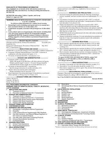 Epivir Prescribing Information Pdf