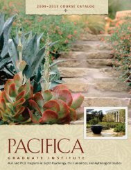 with emphasis in depth psychology - Pacifica Graduate Institute