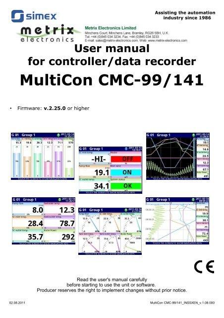 MultiCon CMC-99/141 - Metrix Electronics Ltd