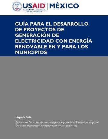GUÍA PARA EL DESARROLLO DE PROYECTOS DE ... - Renovables
