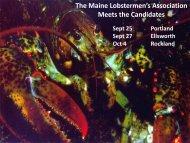 Candidates meetings - Maine Lobstermen's Association