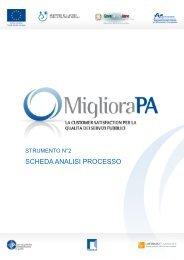 SCHEDA ANALISI PROCESSO - Pubblica Amministrazione di Qualità