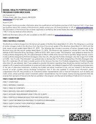 Model Wealth Portfolios (MWP) - LPL Financial