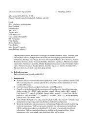 Pöytäkirja - Tieteellisten seurain valtuuskunta