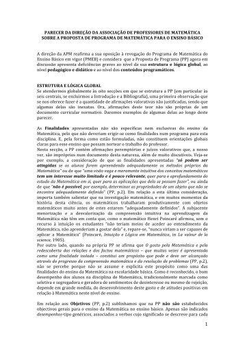 1 - Associação de Professores de Matemática