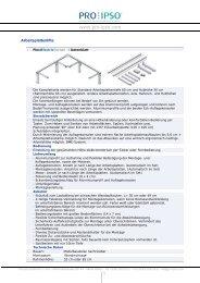 Datenblatt: Höhenverstellsysteme, Lifte und Beschläge für ... - Pro-Ipso