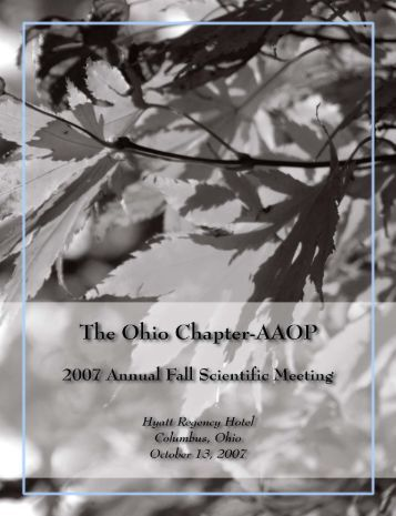 Program Booklet Fall 2005 - Ohio Chapter -- American Academy of ...