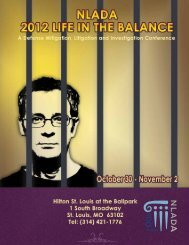 2012 Life in the BaLance - National Legal Aid & Defender Association
