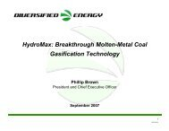 HydroMax: Breakthrough Molten-Metal Coal Gasification Technology