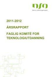 Årsrapport – Faglig komité for teknologiskutdanning - Norsk ...