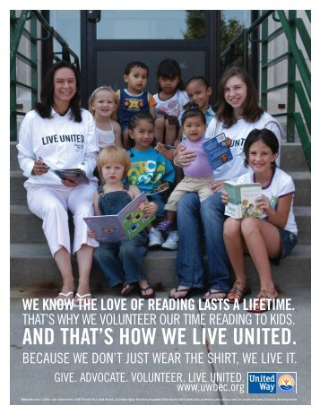 2009 Campaign Poster - United Way of Buffalo and Erie County