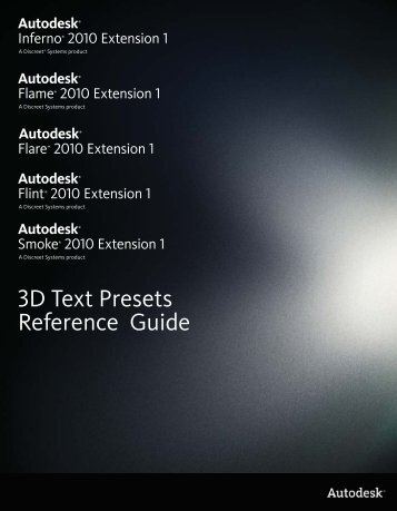 3D Text Presets Reference Guide - Autodesk
