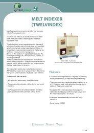 MELT INDEXER (TWELVINDEX) - Garello & De Giosa snc