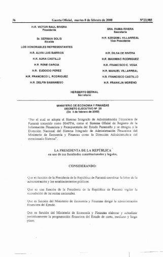 Decreto Ejecutivo 28-2000-SIAFPA - Ministerio de Economía y ...