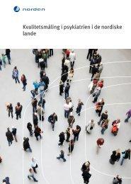 Kvalitetsmåling i psykiatrien i de nordiske lande - Dansk Psykiatrisk ...